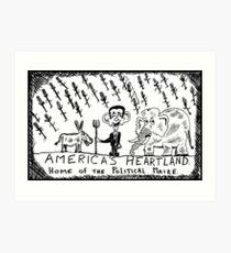 America's Heartland of the Political Maize Art Print
