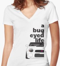 Subaru Bug Eyed life Fitted V-Neck T-Shirt