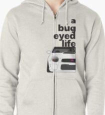 Subaru Bug Eyed life Zipped Hoodie