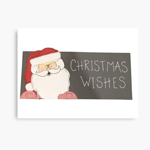 Christmas Wishes Santa Claus Metal Print