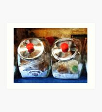 Two Glass Cookie Jars Art Print