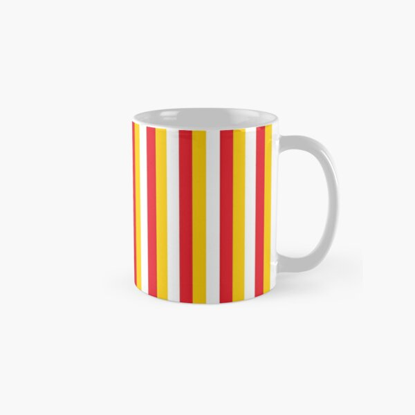 Red Yellow White Sports Football Texture Classic Mug