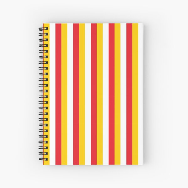 Red Yellow White Sports Football Texture Spiral Notebook