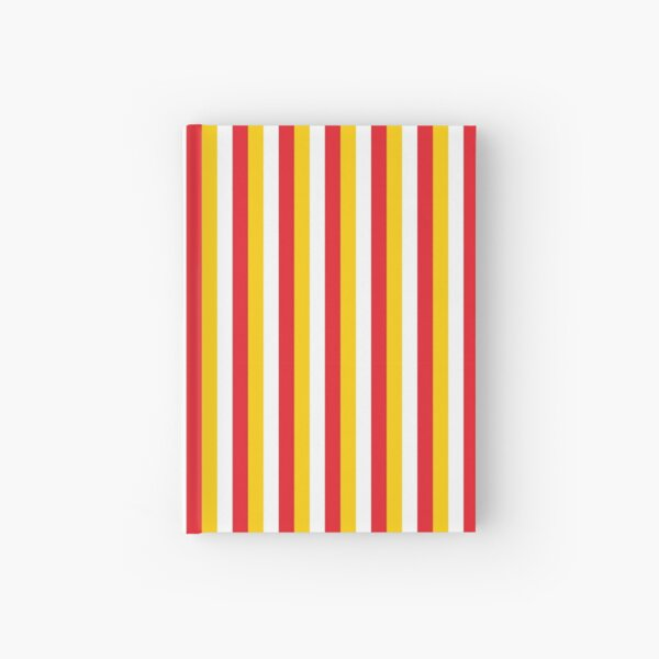Red Yellow White Sports Football Texture Hardcover Journal