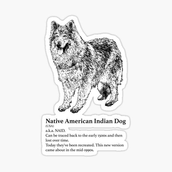 Native American Indian Dog Sticker