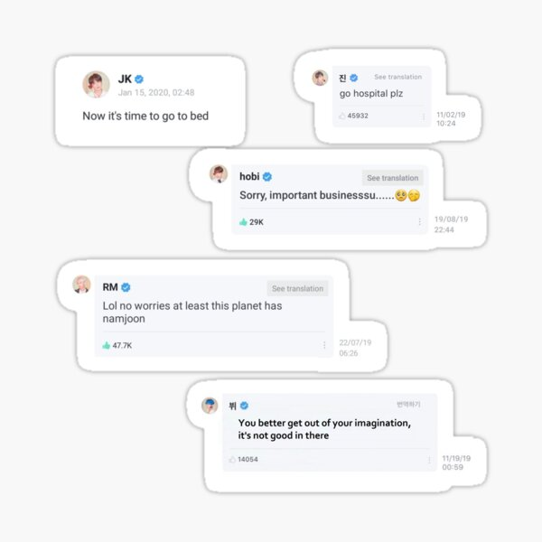 BTS Weverse Sticker Package Sticker