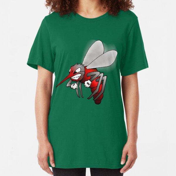 """""""Fighting Skeeter"""" cartoon Slim Fit T-Shirt"""