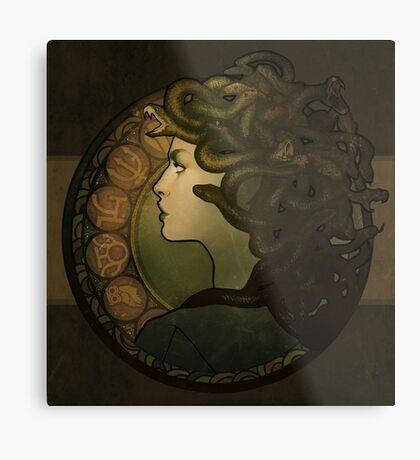 Medusa Nouveau Metal Print