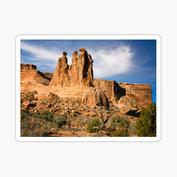 Three Gossips Arches National Park Moab Utah Sticker