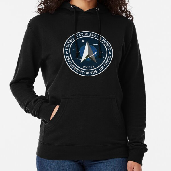 Space Force Insignia, From Official USSF Seal, Logo Lightweight Hoodie