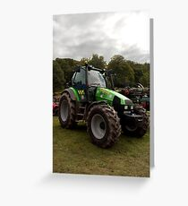 Tractor in police livery Greeting Card