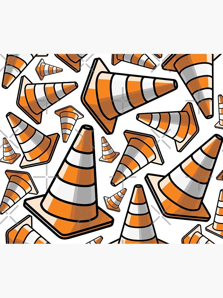 Traffic Cone - Orange and White by TswizzleEG