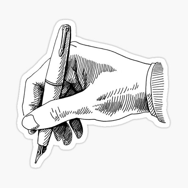Writing with a Fountain Pen by oekart Sticker