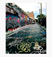 Graffiti street Sydney Photographic Print