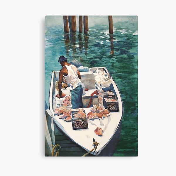 Conch Fisherman Canvas Print