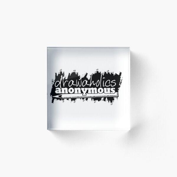 Drawaholics Logo Black Acrylic Block