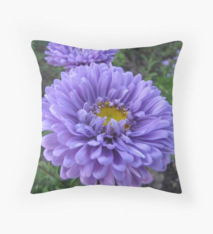 Decorated in blue Throw Pillow