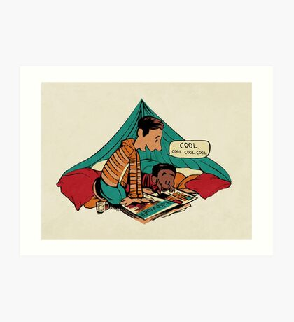 Troy and Abed's Dope Adventures Art Print