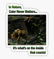 In Nature, Color Never Matters Sticker