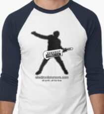 Electronic Rumors:  Keytar Axe-Man, All Synth...All The Time Men's Baseball ¾ T-Shirt