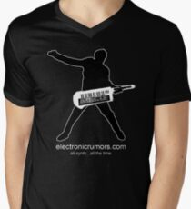 Electronic Rumors:  Keytar Axe-Man, All Synth...All The Time Men's V-Neck T-Shirt