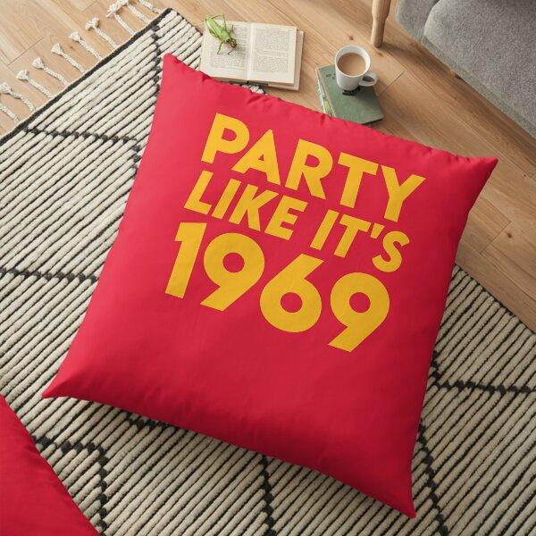 KC Kansas City 2020 Party Like It's 1969 KC Fan Arrowhead Red Kingdom T-Shirt Floor Pillow