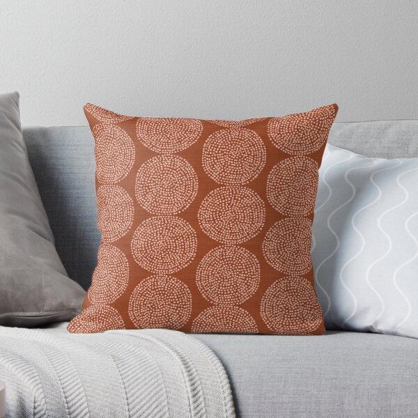 Beech in Rust Throw Pillow