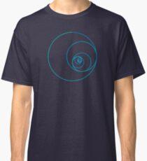 Two Golden Ratio Spirals Classic T-Shirt
