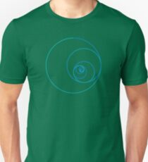 Two Golden Ratio Spirals T-Shirt