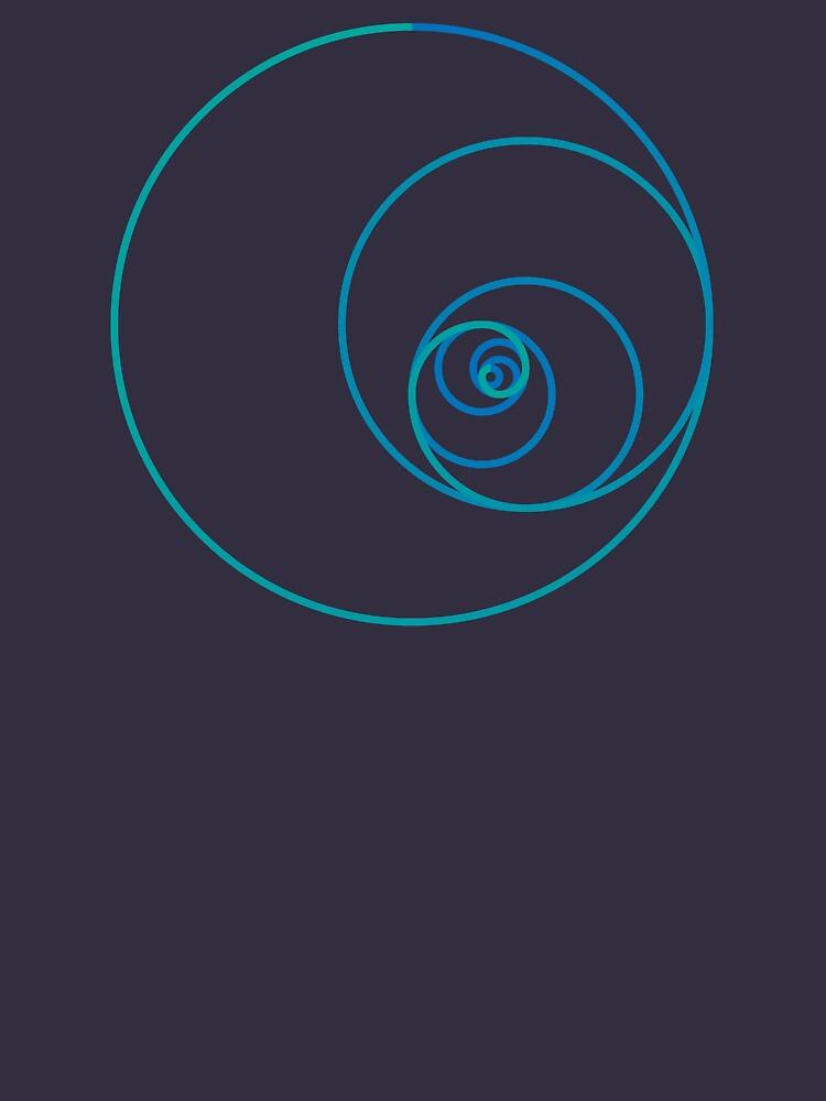 Two Golden Ratio Spirals by joshdbb