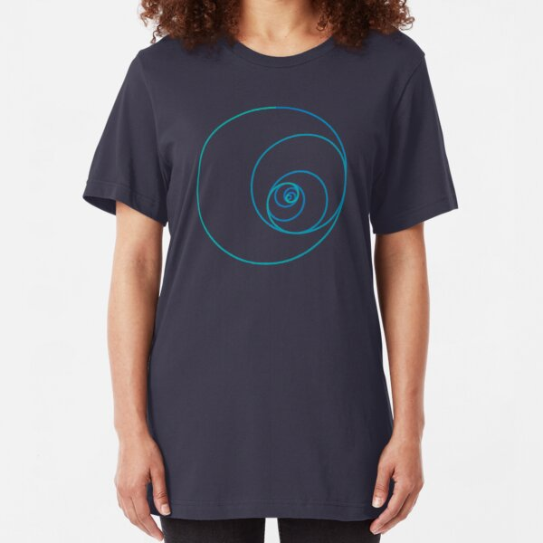 Two Golden Ratio Spirals Slim Fit T-Shirt
