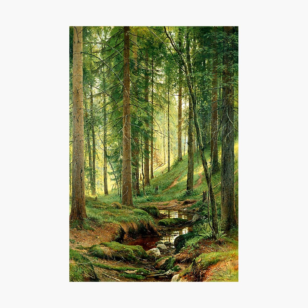 By Shishkin Fine Art Print New Stream in the Forest On the Hillside