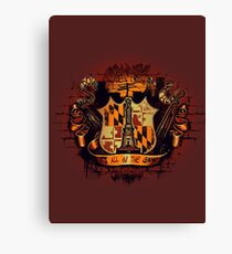 It's All in the Game Canvas Print