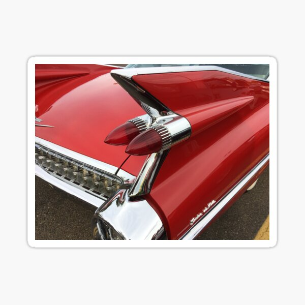 Caddy tail light - things with wings! Sticker