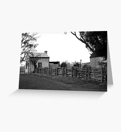 ruralscapes #141, follow the fence Greeting Card