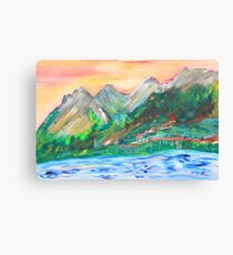 The Lake East of Banff Canvas Print