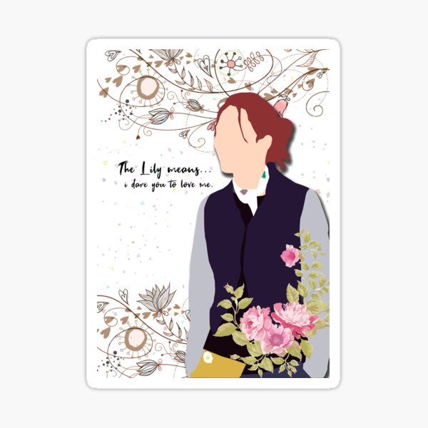 The Lily means... i dare you to love me #ImagineMe&You Sticker