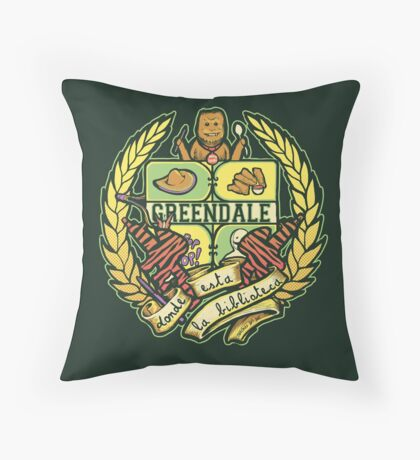 Donde Esta La Biblioteca Throw Pillow