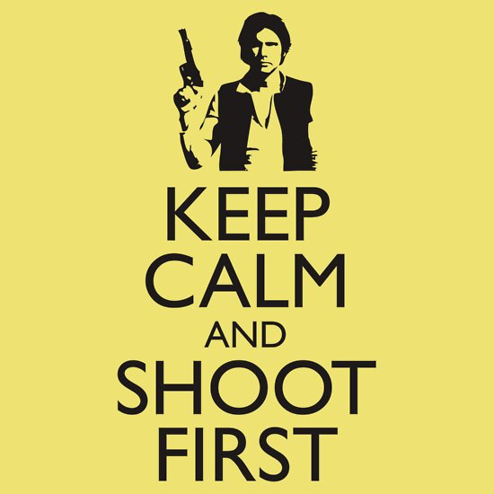 TShirtGifter presents: Keep Calm and Shoot First