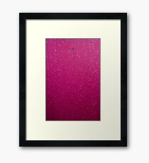 Textures - A leaf and rain on a marquee Framed Print