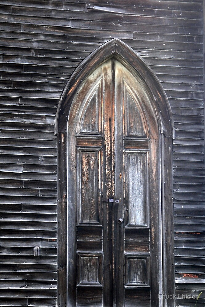 Quot A Creepy Door Quot By Chuck Chisler Redbubble