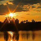 Star sunset on Baltz Lake by Susan Blevins