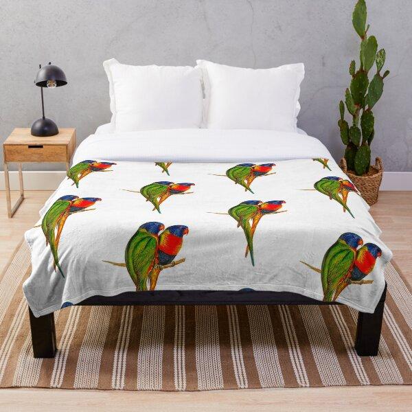 Rainbow Lorikeet Bird Australian  Throw Blanket