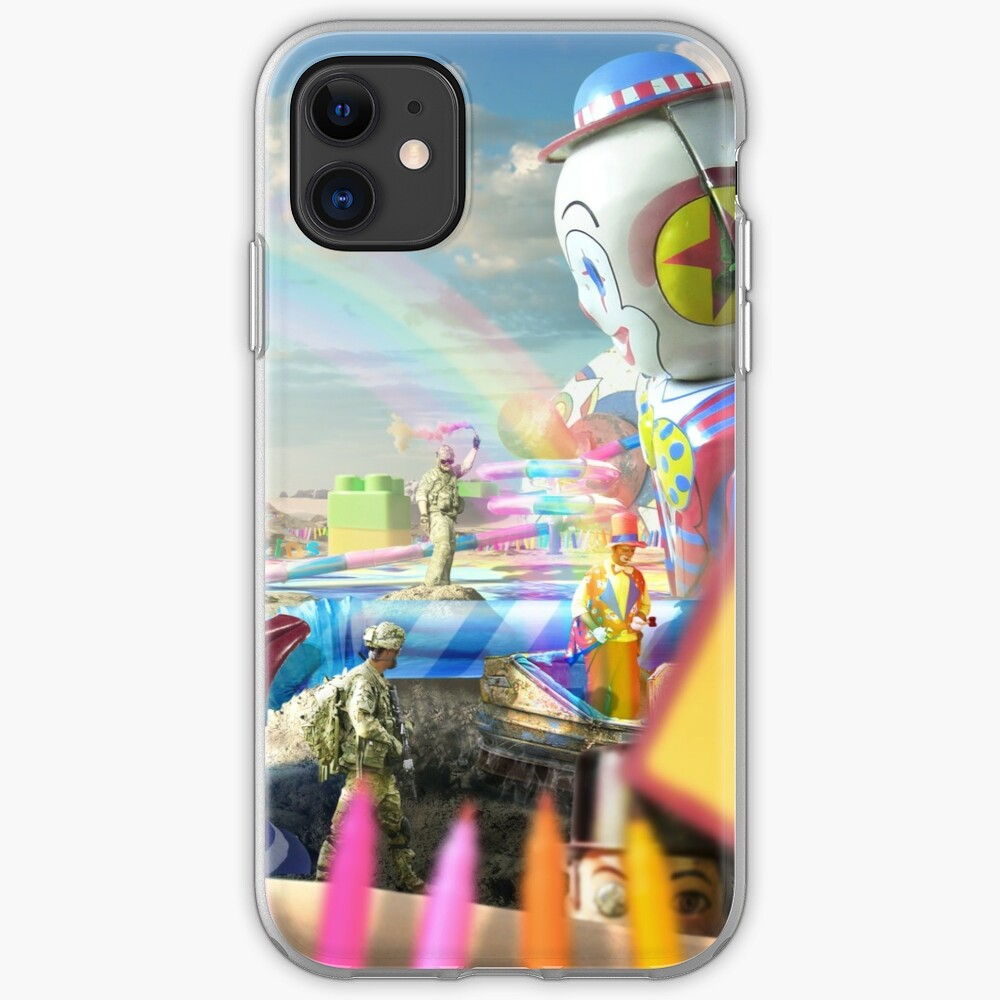 Clown Wasteland - trippy, surreal art iPhone Case & Cover