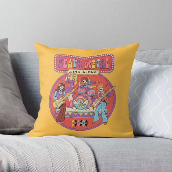 Death Metal Sing-Along Throw Pillow