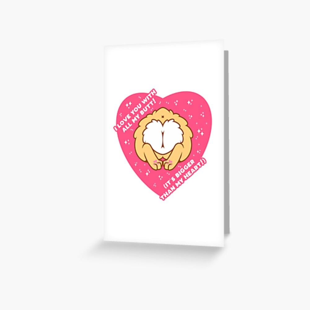 I Love You with all of My (Corgi) Butt! - Yellow Greeting Card