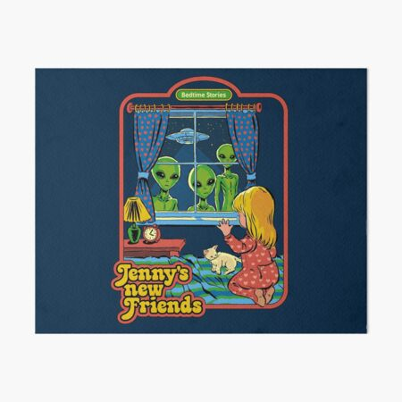 Jenny's New Friends Art Board Print
