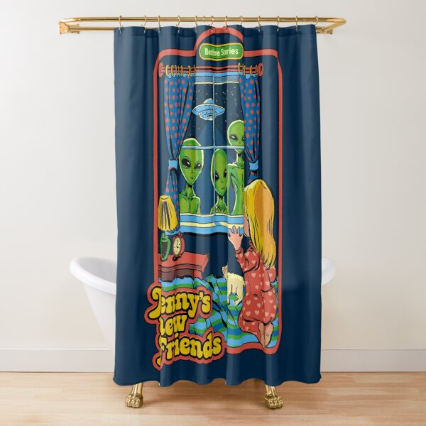 Jenny's New Friends Shower Curtain