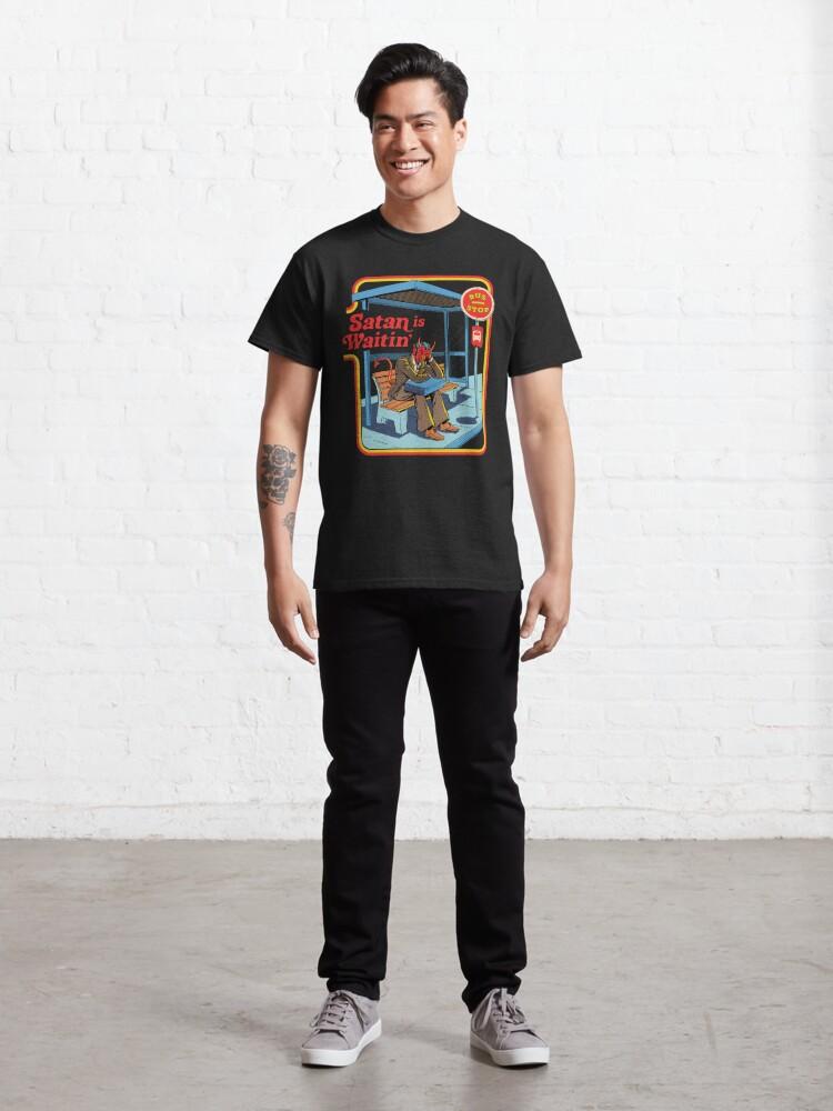 Alternate view of Satan is Waitin' Classic T-Shirt