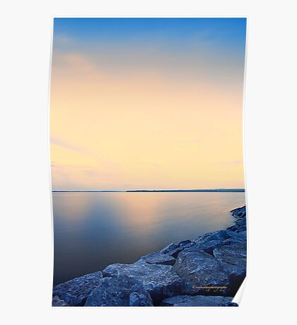 Sunrise on Ottawa River Poster